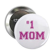"""#1 Mom in dark pink 2.25"""" Button (100 pack)"""