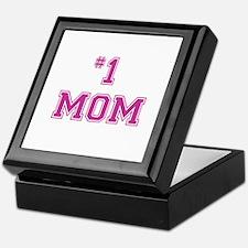 #1 Mom in dark pink Keepsake Box