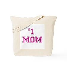 #1 Mom in dark pink Tote Bag