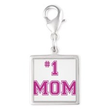 #1 Mom in dark pink Charms