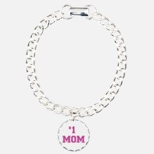 #1 Mom in dark pink Bracelet