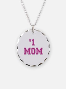 #1 Mom in dark pink Necklace