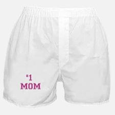 #1 Mom in dark pink Boxer Shorts