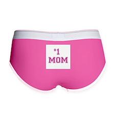 #1 Mom in dark pink Women's Boy Brief