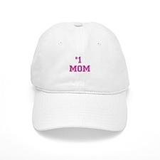 #1 Mom in dark pink Baseball Baseball Cap