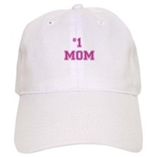#1 Mom in dark pink Baseball Cap