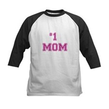 #1 Mom in dark pink Baseball Jersey