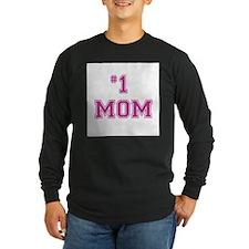 #1 Mom in dark pink Long Sleeve T-Shirt