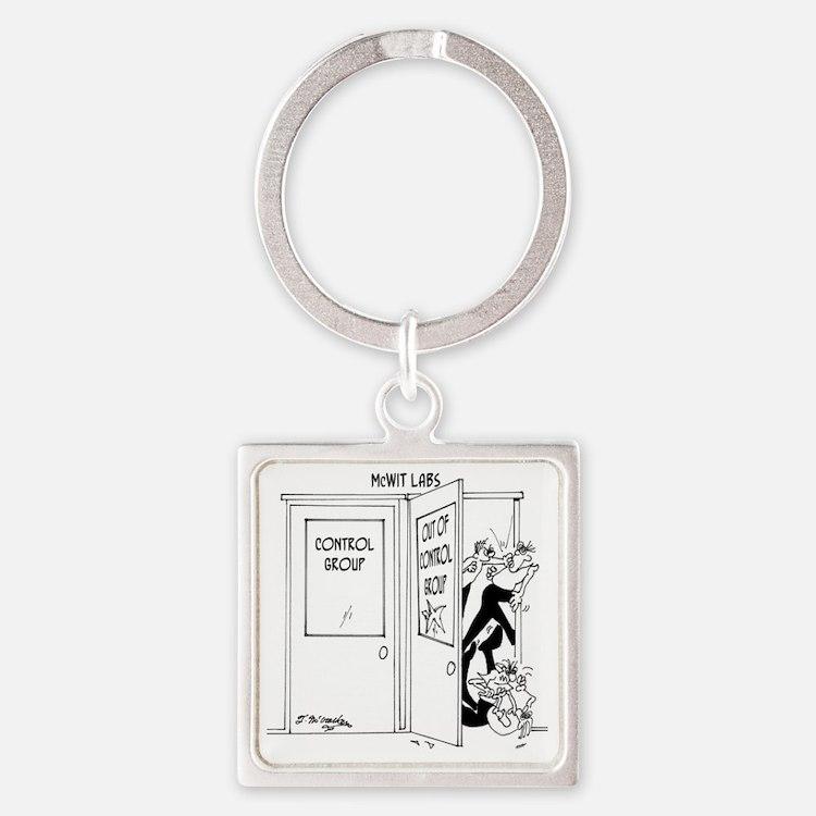 6727_science_cartoon Square Keychain