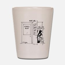 6727_science_cartoon Shot Glass