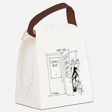 6727_science_cartoon Canvas Lunch Bag