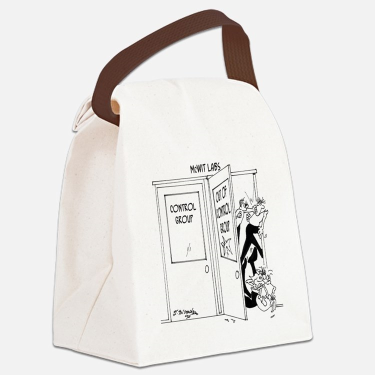 6727_science_cartoon Canvas Lunch Bag