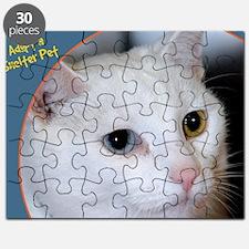 White Cat Photo Puzzle