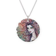 chloris for pillow Necklace Circle Charm