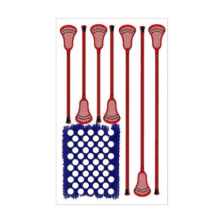 Lacrosse_Designs_AmericasGame2 Sticker (Rectangle)