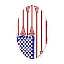 Lacrosse_Designs_AmericasGame2 - C Oval Car Magnet