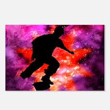 Skateboarder in Cosmic Cl Postcards (Package of 8)