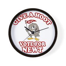 Give-a-Hoot-Newt-Bigger Wall Clock