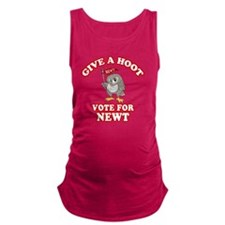 Give-a-Hoot-Newt-Bigger Maternity Tank Top