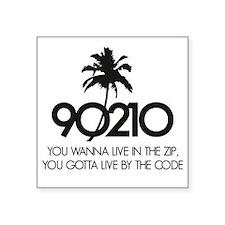 "90210Code1A Square Sticker 3"" x 3"""