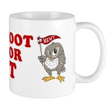 Give-a-Hoot-Next-Bumper-Sticker Small Mug