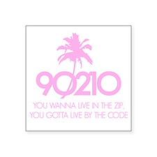 "90210Code1D Square Sticker 3"" x 3"""