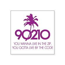"""90210Code1E Square Sticker 3"""" x 3"""""""