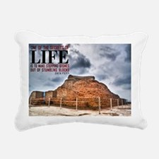 Secrets Of Life Quote on Rectangular Canvas Pillow