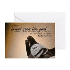 True Friend Quote on Large Framed Pr Greeting Card