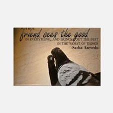 True Friend Quote on Large Framed Rectangle Magnet