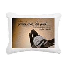 True Friend Quote on Lar Rectangular Canvas Pillow