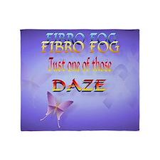 Fibro Fog-Yardsign Throw Blanket