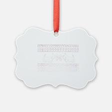 reindeer sweat white Ornament