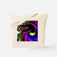 Tropical Hurricane Eye with Skateboarder Tote Bag