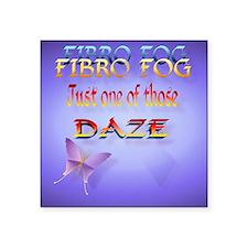 """Fibro Fog_mpad Square Sticker 3"""" x 3"""""""