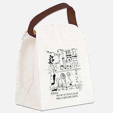 5863_flower_cartoon Canvas Lunch Bag