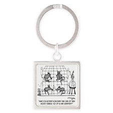 2171_lab_cartoon_EK Square Keychain