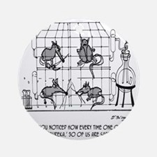 2171_lab_cartoon_EK Round Ornament