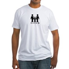 1 + 1 = 3 (graphic of family) Shirt
