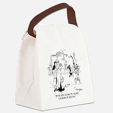 6604_lab_cartoon Canvas Lunch Bag
