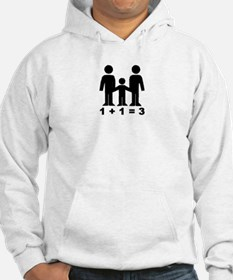 1 + 1 = 3 (graphic of family) Hoodie