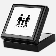 1 + 1 = 3 (graphic of family) Keepsake Box