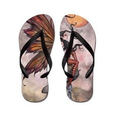yellow moon of autum for 16 20 print cp Flip Flops