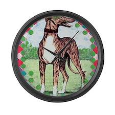 greyhound Large Wall Clock