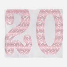 20th_Red_NoBkgd Throw Blanket