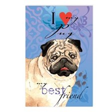 pug-kindle Postcards (Package of 8)