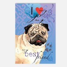 pug-kindle Postcards (Package of 8)