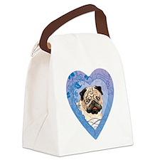 pug-heart Canvas Lunch Bag