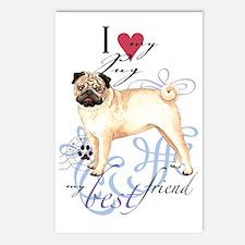 pug-key2 Postcards (Package of 8)