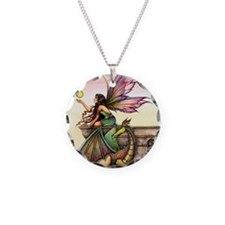Dragons Orbs Necklace Circle Charm